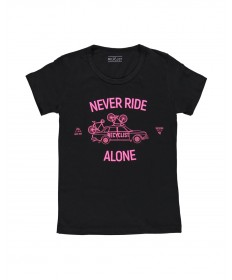 T-Shirt Never Ride Nera