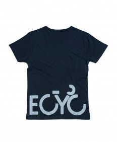 T-shirt men Becyclist front and back Blu navy