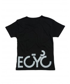 T-shirt men Becyclist front and back Black