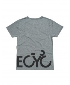 T-shirt men Becyclist front and back gray
