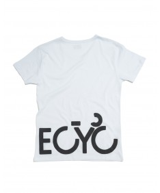 T-shirt men Becyclist front and back White