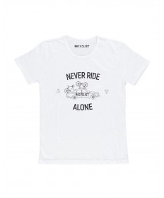 T-Shirt Never Ride Bianca Bimbo